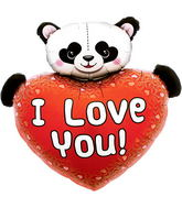 "36"" I Love You Heart Panda"