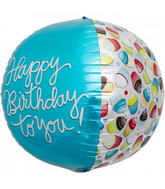 "17"" Happy Birthday Cupcake Sphere"