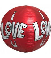 "17"" I Love U Doodles Sphere"