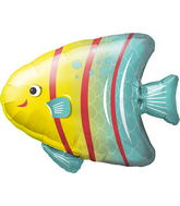 "14"" Angelfish Airfill Balloon Includes Cup and Stick."