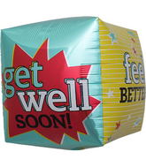 "17"" Get Well Feel Better Cube"