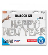 "16"" HAPPY NEW YEAR Kit - Silver 16"""