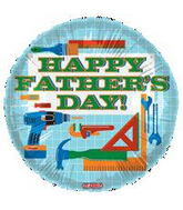 "18"" Happy Father&#39s Day Tools Balloon"