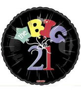 "18"" The Big 21 Black Balloon"