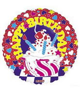 "18"" Happy Birthday Sundae Balloon"
