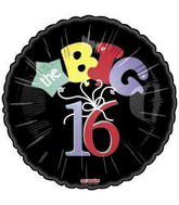 "18"" The Big 16 Black Balloon Black"