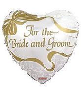 "18"" For the Bride and Groom Balloon"