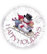 "18"" Happy Holidays Sleigh Ride Balloon"