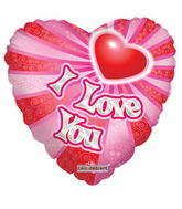 "36"" Sv Dots & Stripes I Love You Balloon"