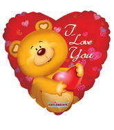 "18"" Cute Bear I Love You Balloon"