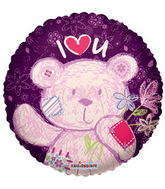 "18"" I Love You Balloon White Bear"