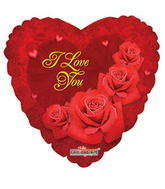 "18"" I Love You Balloon Classic Roses"