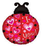 "28"" I Love You Balloon Ladybug Shape"