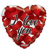 "18"" I Love You Balloon Many Red Hearts"
