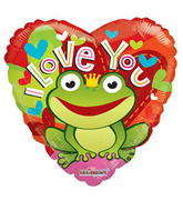 "18"" I Love You Balloon Frog"
