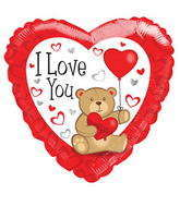 "18"" I Love You Balloon Bear With Balloon"