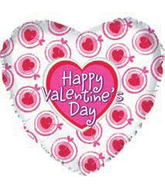 "18"" Happy Valentine&#39s Day Balloon Heart and Arrows"