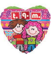 "18"" Pelox T.Q.M. ""I Love you a Lot"" Globos"
