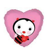 "9"" Airfill Only Love Bug Balloon"