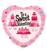 "18"" To a Sweet Valentine Lots of Goodies Balloon"