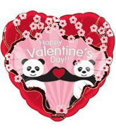 "18"" Happy Valentine's Day Balloon Panda Bear"