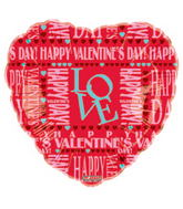 "18"" Happy Valentine&#39s Day Balloon Love Letters"
