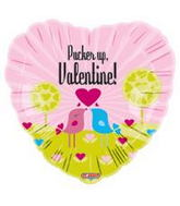 "18"" Pucker up, Valentine! Birds Balloon"