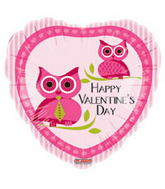 "18"" Happy Valentine&#39s Day Balloon Owl"