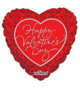 "4"" Happy Valentine&#39s Day Balloon Classic Pattern"