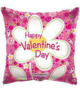 "18"" Happy Valentine&#39s Day Balloon Daisy Clear View"