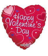 "9"" Happy Valentine&#39s Day Balloon Dot Hearts"