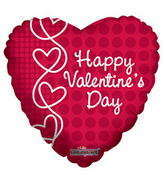 "4"" Happy Valentine&#39s Day Balloon Laced Hearts"