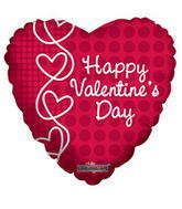 "9"" Happy Valentine&#39s Day Balloon Laced Hearts"