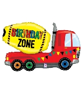 "30"" Foil Shape Birthday Zone Truck"