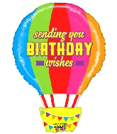 "30"" Mighty Bright® Shape Mighty Birthday Hot Air Balloon"