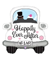 "31"" Foil Shape Happily Ever After Car"