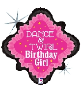 "18"" Holographic Balloon Dance Birthday Ballerina"