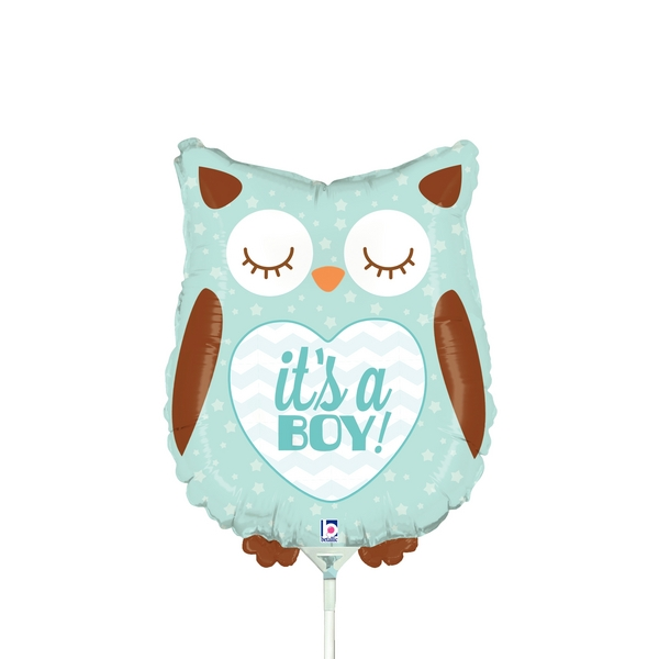 "14"" Airfill Only Mini Air Shape It's a Boy Baby Owl"