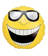 "18"" Single-Sided Balloon Mr. Happy Face"