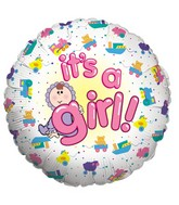 "18"" Single-Sided Balloon Baby Girl"