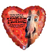 "21"" Two-Sided Balloon Packaged Horse Around Google Eyes"