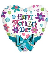 "20"" Happy Mother&#39s Day Bow Balloon"