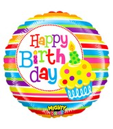 "21"" Mighty Bright Balloon Mighty Cupcake Birthday"