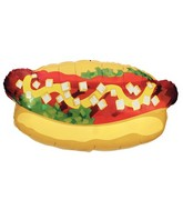 "32"" Foil Super Shape Hotdog Balloon"