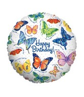 "18"" Balloon Packaged Butterfly Birthday"