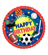"18"" Balloon Packaged Sports Buff Birthday"