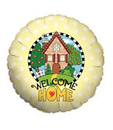 "18"" Balloon Welcome Home Yellow"