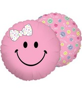 "18"" Balloon Smiley Baby Girl"