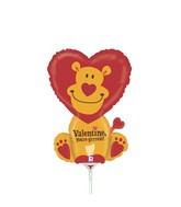 "14"" Airfill Only Shape Balloon Grrreat Valentine Lion"