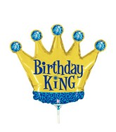 "14"" Airfill Only Mini Air Shape Birthday King Crown"